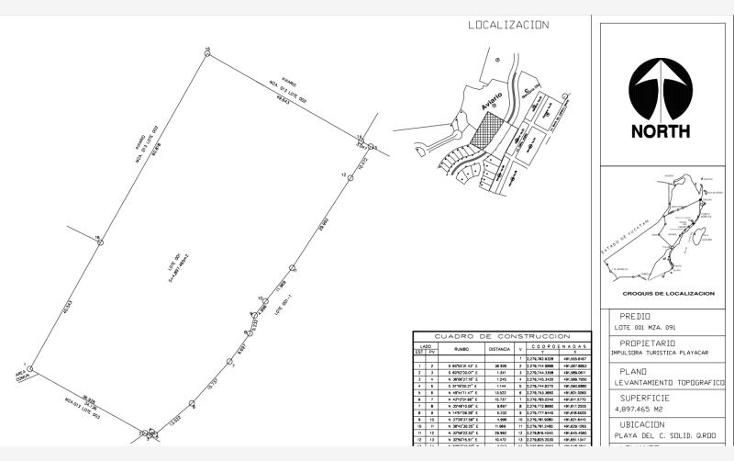 Foto de terreno habitacional en venta en  smls112, playa car fase ii, solidaridad, quintana roo, 532009 No. 01