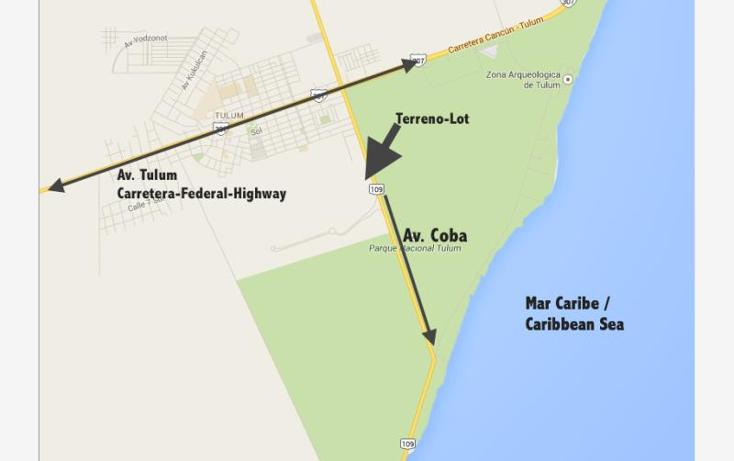 Foto de terreno habitacional en venta en a pasos de avenida coba smls130, tulum centro, tulum, quintana roo, 521118 No. 01