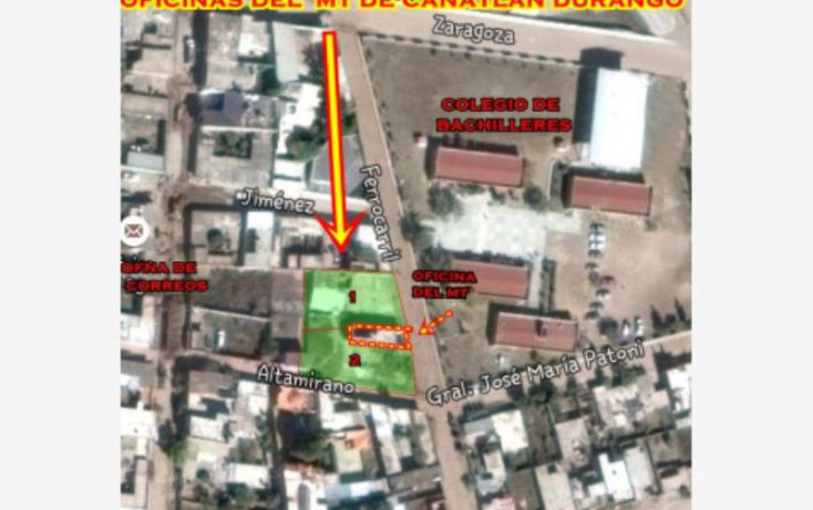 Foto de terreno habitacional en venta en sn, canatlán de las manzanas centro, canatlán, durango, 1601836 no 04