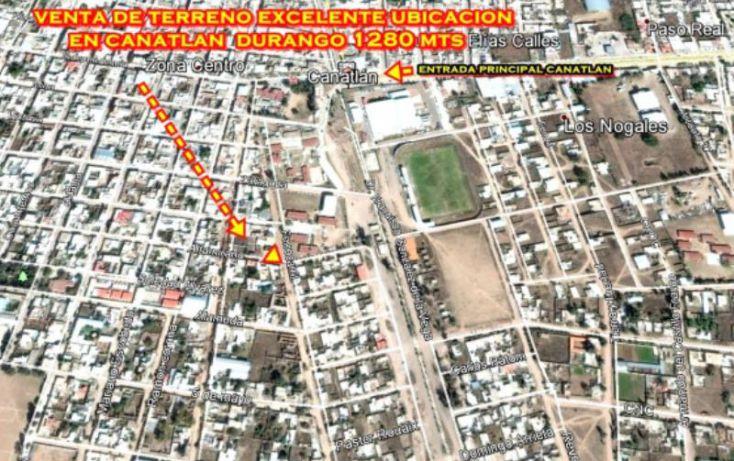 Foto de terreno habitacional en venta en sn, canatlán de las manzanas centro, canatlán, durango, 1601836 no 09