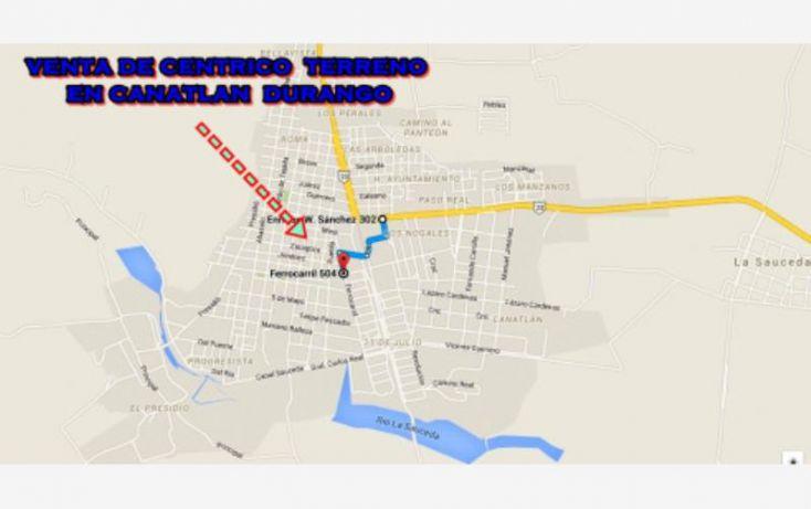 Foto de terreno habitacional en venta en sn, canatlán de las manzanas centro, canatlán, durango, 1601836 no 10