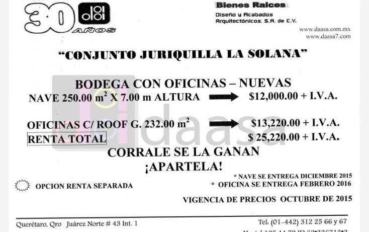 Foto de bodega en renta en sn, juriquilla, querétaro, querétaro, 564252 no 02