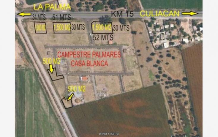 Foto de terreno habitacional en venta en sn, la primavera, culiacán, sinaloa, 828141 no 01