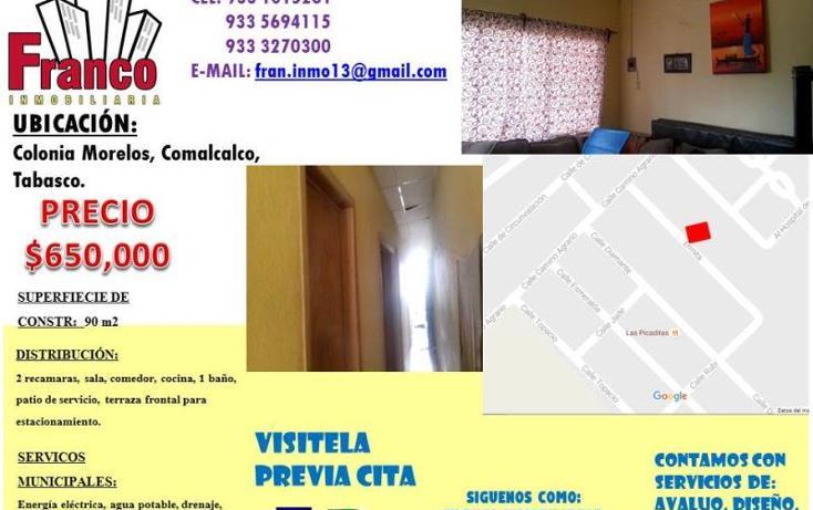 Foto de casa en venta en ermita s.n, morelos, comalcalco, tabasco, 2690102 No. 01