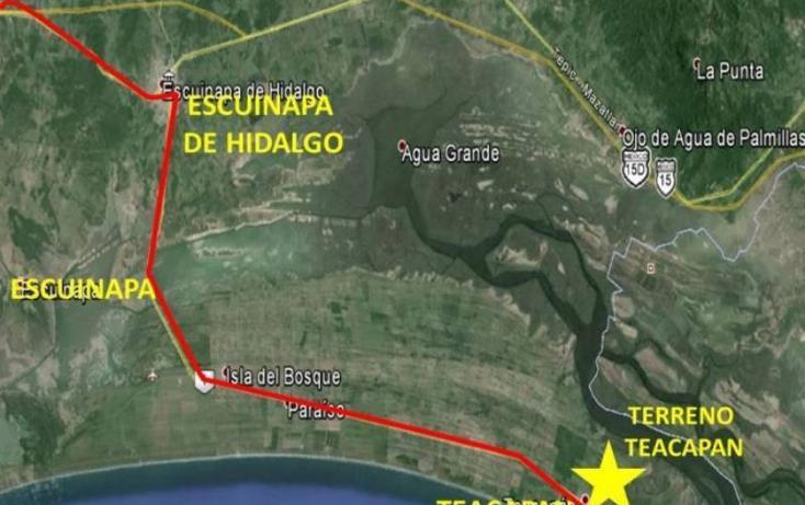 Foto de terreno habitacional en venta en  s-n, teacapan, escuinapa, sinaloa, 1372865 No. 04