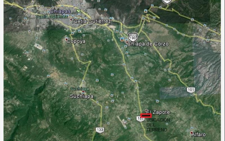 Foto de terreno habitacional en venta en sobre carretera rivera cangui, las flechas, chiapa de corzo, chiapas, 608709 no 01