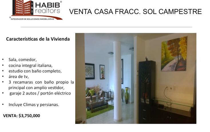 Foto de casa en venta en  , sol campestre, centro, tabasco, 1419749 No. 01