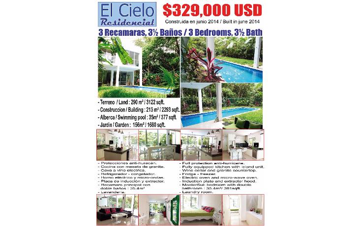 Foto de casa en venta en  , solidaridad, othón p. blanco, quintana roo, 1601622 No. 01
