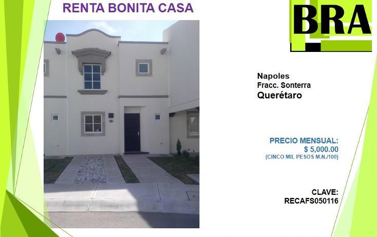 Foto de casa en renta en  , sonterra, querétaro, querétaro, 1549920 No. 01