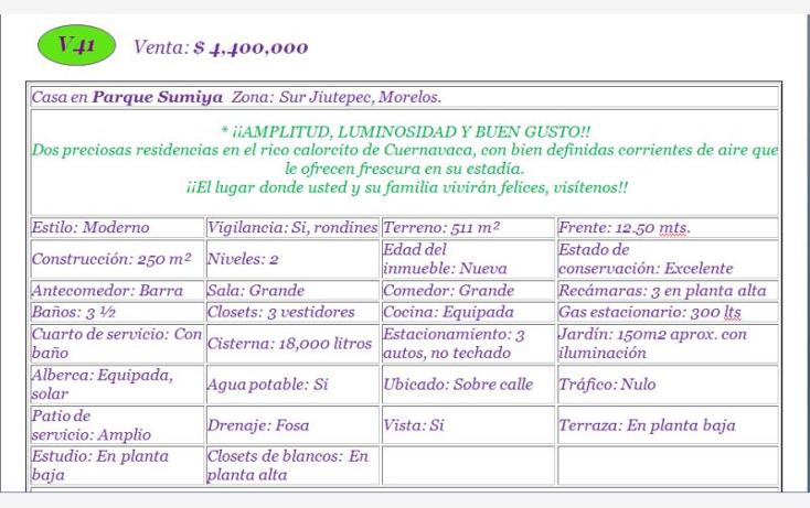 Foto de casa en venta en  , sumiya, jiutepec, morelos, 613293 No. 02