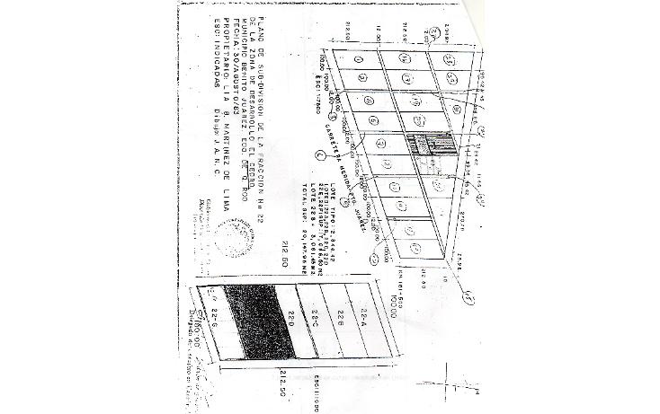 Foto de terreno habitacional en venta en  , supermanzana 22 centro, benito ju?rez, quintana roo, 1064875 No. 02