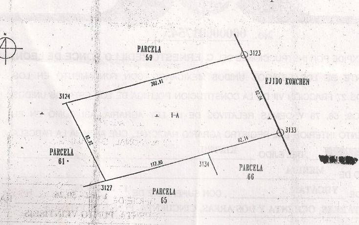 Foto de terreno habitacional en venta en tablaje, cheuman, mérida, yucatán, 1719218 no 02
