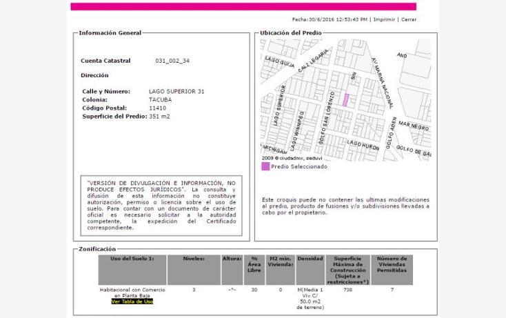 Foto de departamento en venta en  , tacuba, miguel hidalgo, distrito federal, 2033050 No. 03