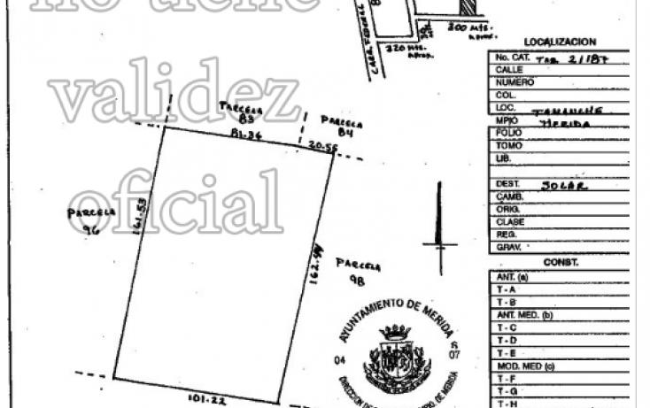 Foto de terreno habitacional en venta en, tamanché, mérida, yucatán, 1668200 no 01
