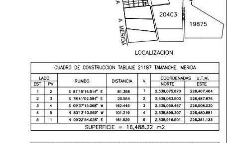 Foto de terreno habitacional en venta en, tamanché, mérida, yucatán, 1668200 no 05