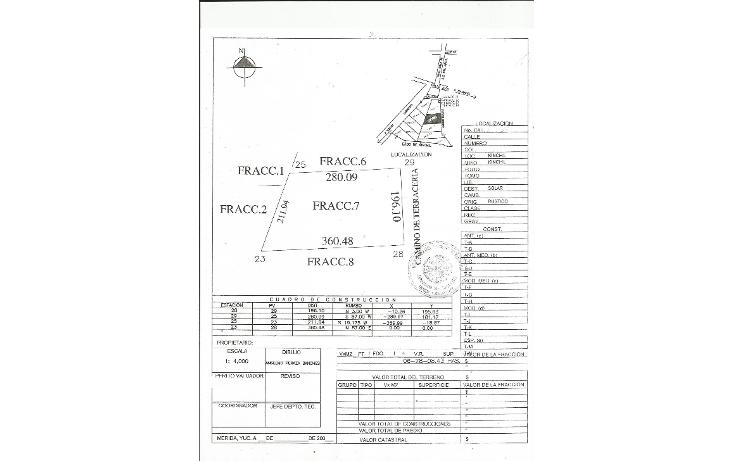 Foto de terreno habitacional en venta en  , tamchen, kinchil, yucatán, 1162299 No. 06