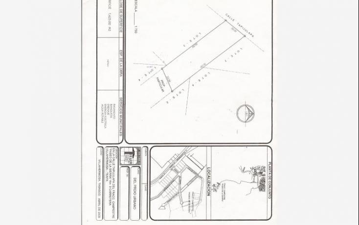 Foto de terreno habitacional en venta en tapijulapa, sol campestre, centro, tabasco, 619276 no 01