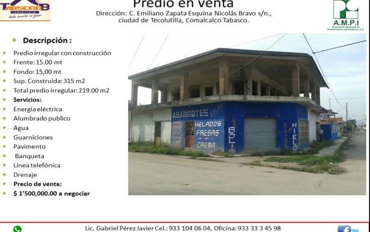 Foto de edificio en venta en  , tecolutilla, comalcalco, tabasco, 1992622 No. 01