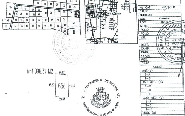 Foto de terreno habitacional en venta en  , temozon norte, mérida, yucatán, 1109939 No. 01