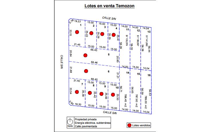 Foto de terreno habitacional en venta en  , temozon norte, m?rida, yucat?n, 1621346 No. 04