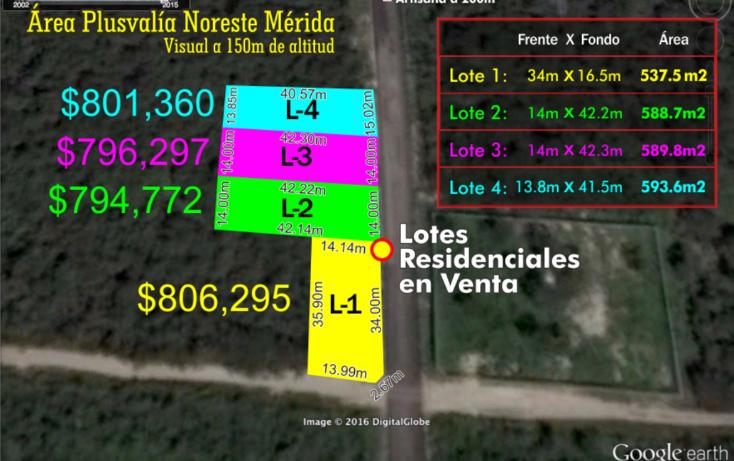 Foto de terreno habitacional en venta en  , temozon norte, m?rida, yucat?n, 1647964 No. 01