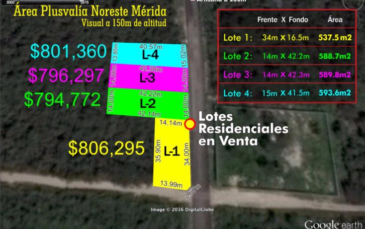 Foto de terreno habitacional en venta en  , temozon norte, mérida, yucatán, 1759748 No. 03