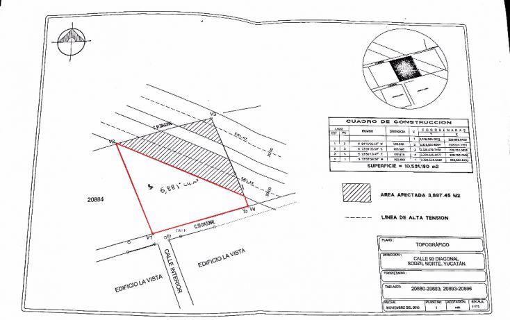 Foto de terreno habitacional en venta en, temozon norte, mérida, yucatán, 1776510 no 02
