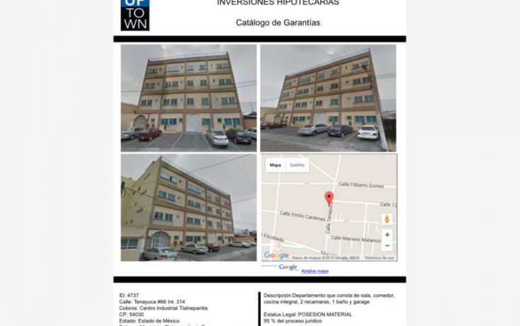 Foto de departamento en venta en tenayuca 66, centro industrial tlalnepantla, tlalnepantla de baz, estado de méxico, 1732914 no 01