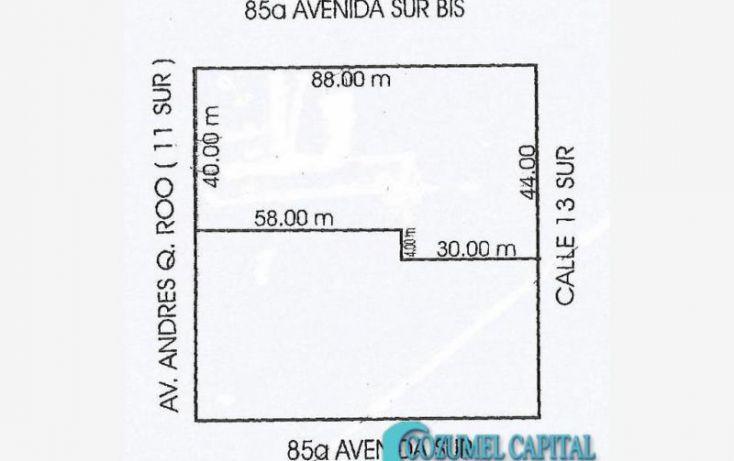 Foto de terreno comercial en venta en terreno 11 avenida, 11 avenida entre 85 y 85 bis, repobladores de 1848, cozumel, quintana roo, 1781610 no 02