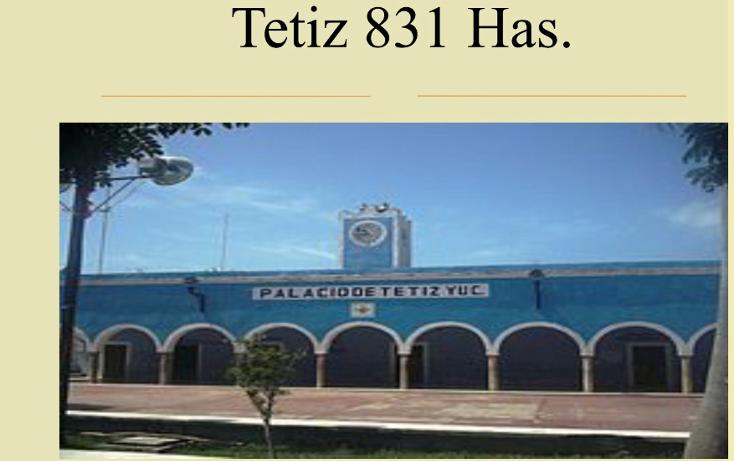 Foto de terreno comercial en venta en  , tetiz, tetiz, yucatán, 1046033 No. 01