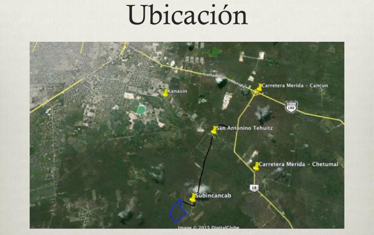 Foto de terreno comercial en venta en  , teya, kanasín, yucatán, 1617296 No. 01