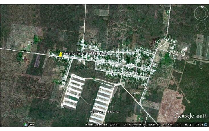 Foto de terreno comercial en venta en  , timul, motul, yucat?n, 1104865 No. 01