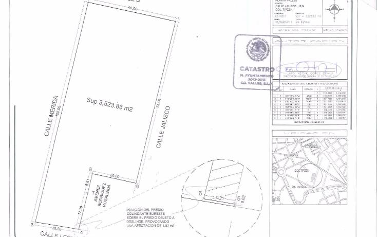 Foto de terreno habitacional en venta en  , tipzen, ciudad valles, san luis potosí, 1076593 No. 01
