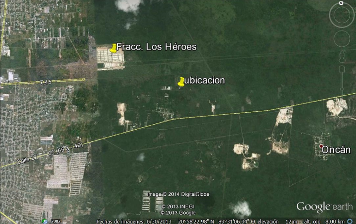 Foto de terreno habitacional en venta en  , tixpehual, tixpéhual, yucatán, 1066193 No. 02