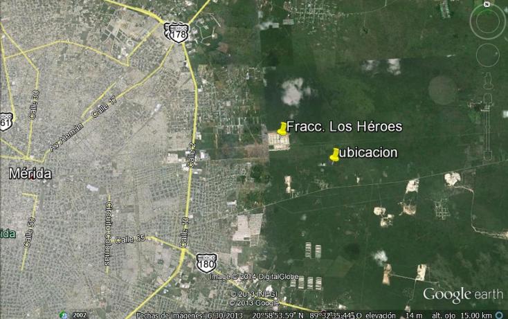 Foto de terreno habitacional en venta en  , tixpehual, tixpéhual, yucatán, 1066193 No. 03
