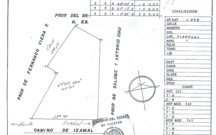 Foto de terreno habitacional en venta en  , tixpehual, tixpéhual, yucatán, 1110573 No. 01