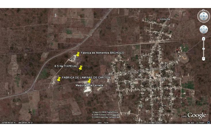 Foto de terreno habitacional en venta en  , tixpehual, tixpéhual, yucatán, 1110573 No. 02