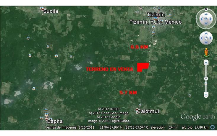 Foto de rancho en venta en  , tizimin centro, tizimín, yucatán, 1066641 No. 01
