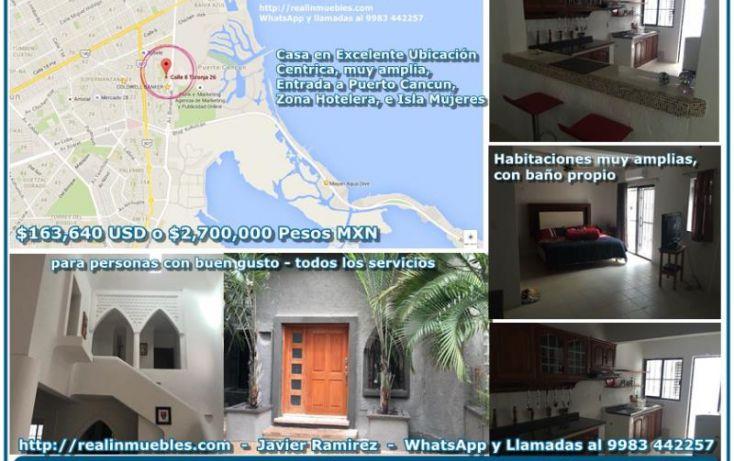 Foto de casa en venta en toronja, cancún centro, benito juárez, quintana roo, 1850008 no 01