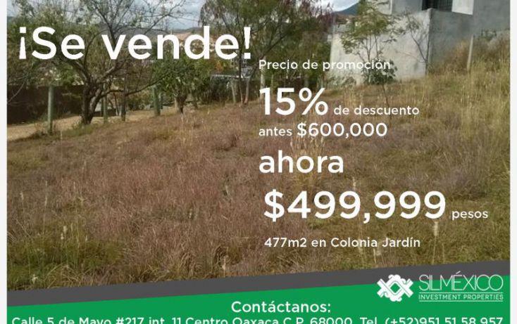 Foto de terreno habitacional en venta en tulipanes 109, 7 regiones, oaxaca de juárez, oaxaca, 1594356 no 01