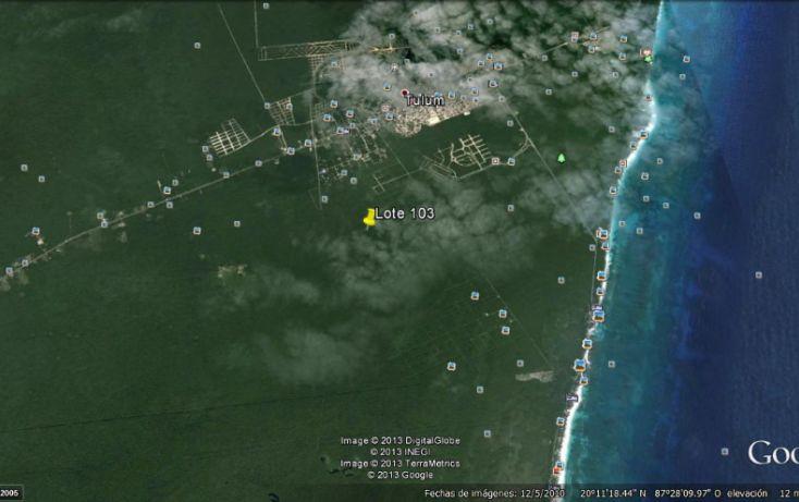 Foto de terreno habitacional en venta en, tulum centro, tulum, quintana roo, 1100291 no 02