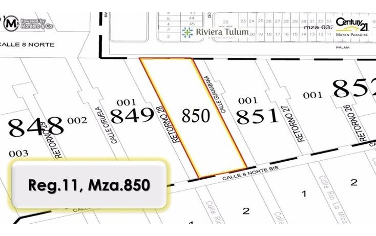 Foto de terreno habitacional en venta en  , tulum centro, tulum, quintana roo, 1858110 No. 02