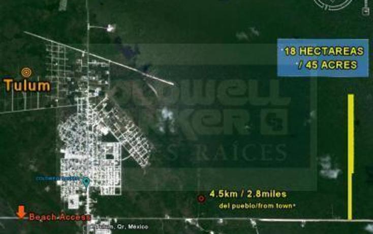 Foto de terreno comercial en venta en tulum-coba, kilometro 4.5 , tulum centro, tulum, quintana roo, 1836686 No. 01