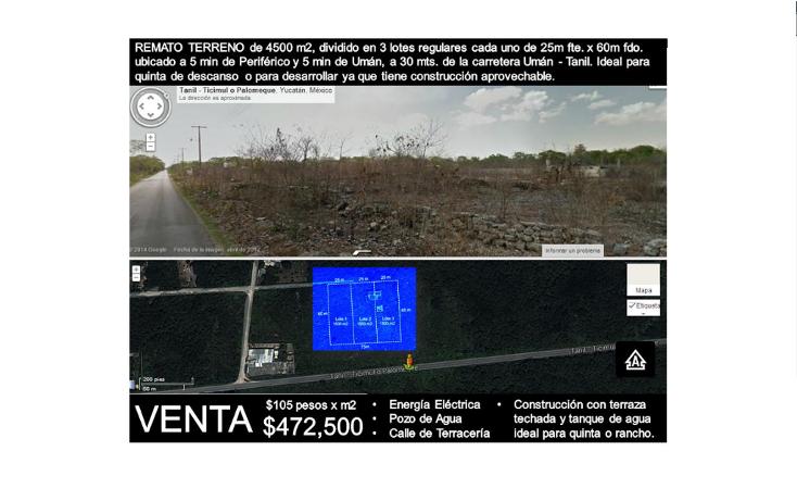 Foto de terreno habitacional en venta en  , uman, umán, yucatán, 1264215 No. 01