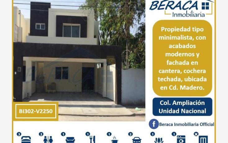 Foto de casa en venta en  , unidad nacional, ciudad madero, tamaulipas, 1805876 No. 01