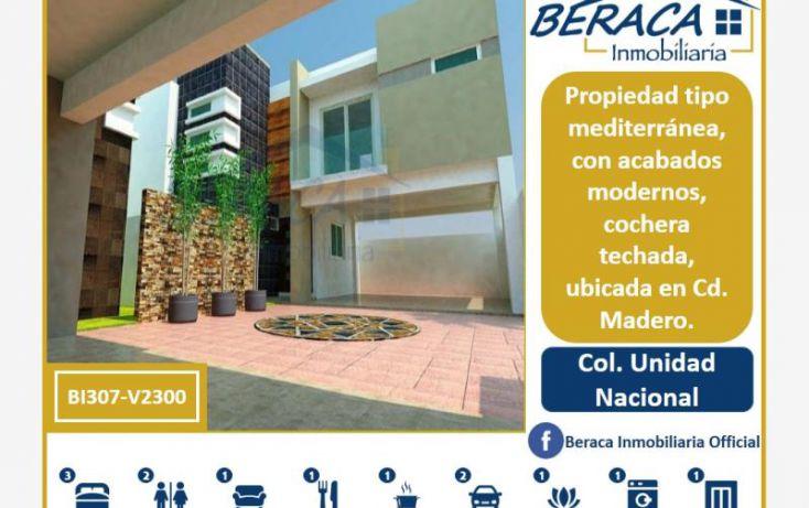 Foto de casa en venta en, unidad nacional, ciudad madero, tamaulipas, 1805878 no 01
