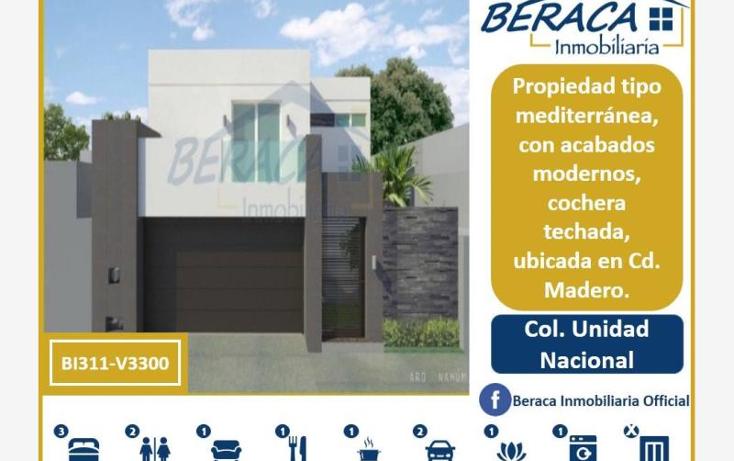 Foto de casa en venta en  , unidad nacional, ciudad madero, tamaulipas, 2038142 No. 01