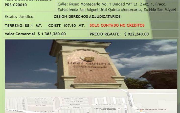 Foto de casa en venta en, urbi quinta montecarlo, cuautitlán izcalli, estado de méxico, 1984004 no 01