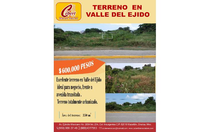 Foto de terreno habitacional en venta en  , valle del ejido, mazatlán, sinaloa, 1382225 No. 03