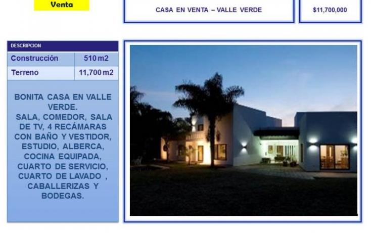 Foto de casa en venta en valle verde  barrio obrajuelo, el pueblito centro, corregidora, querétaro, 754191 no 01